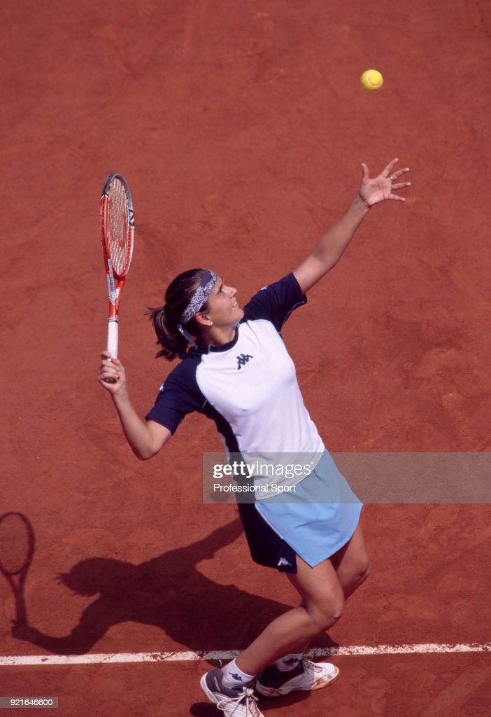 Conchita Martinez of Spain during the French Open Tennis Championships at the Stade Roland Garros circa May 2003 in Paris, France.