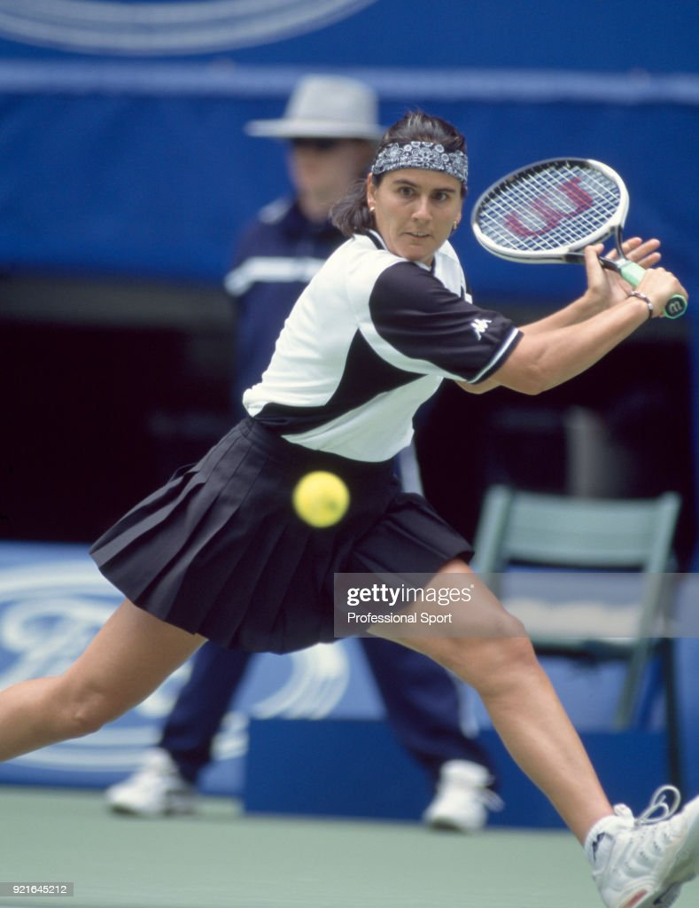 Conchita Martinez of Spain in action during the Australian Open Tennis Championships at Melbourne Park in Melbourne, Australia circa January 1998.