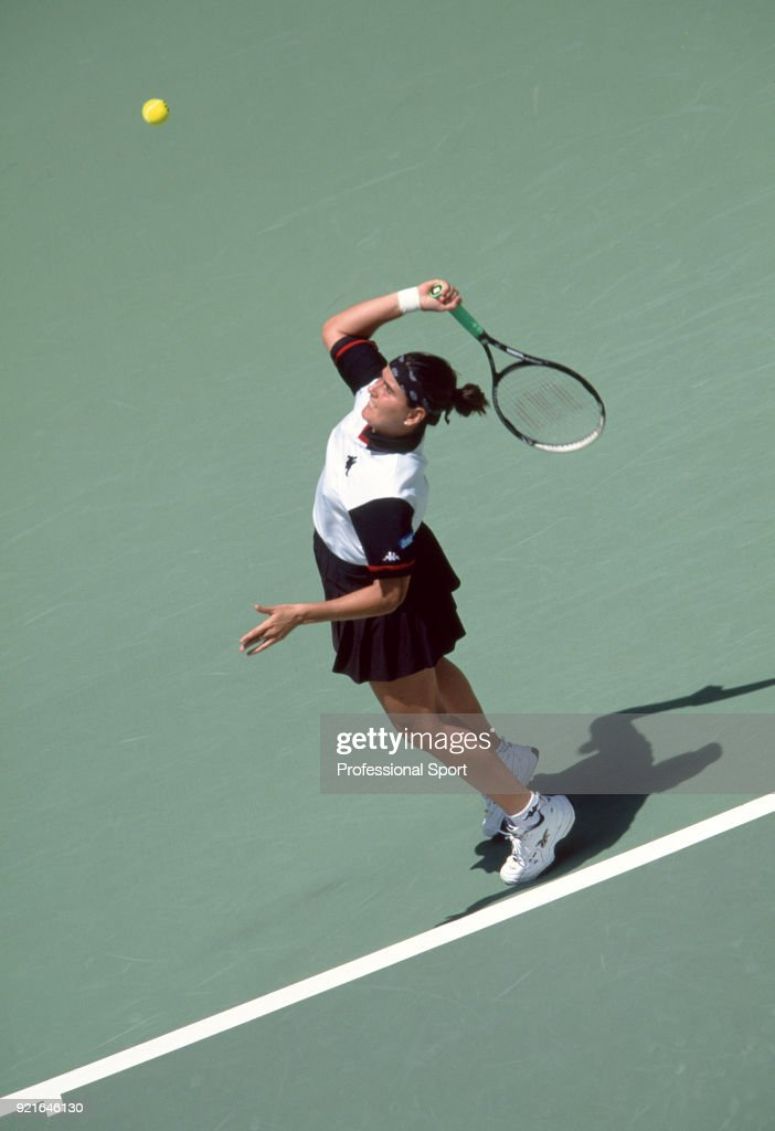 Conchita Martinez of Spain in action during the Australian Open Tennis Championships at Melbourne Park in Melbourne, Australia circa January 2000.
