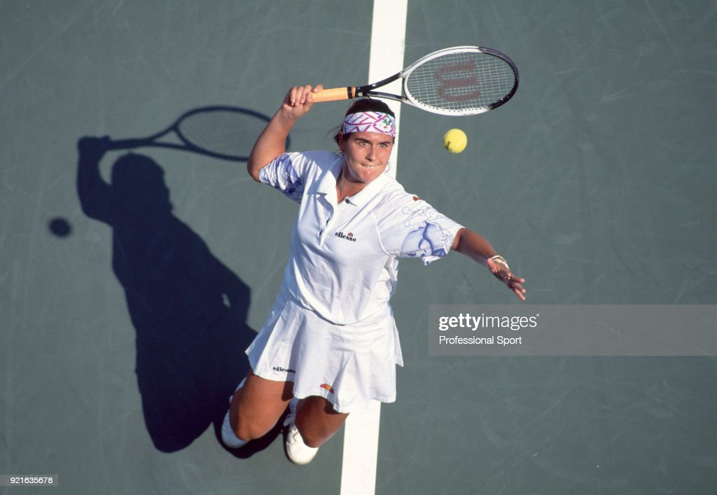 Conchita Martinez of Spain in action during the US Open at the USTA National Tennis Center, circa September 1995 in Flushing Meadow, New York, USA.