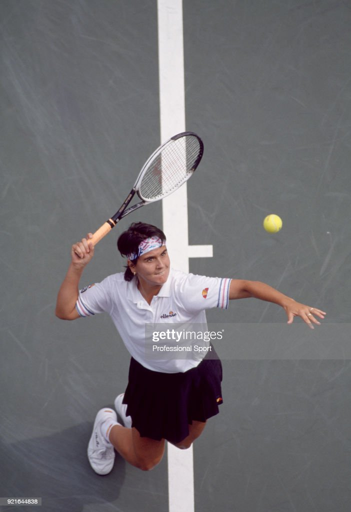 Conchita Martinez of Spain in action during the US Open at the USTA National Tennis Center, circa September 1996 in Flushing Meadow, New York, USA.
