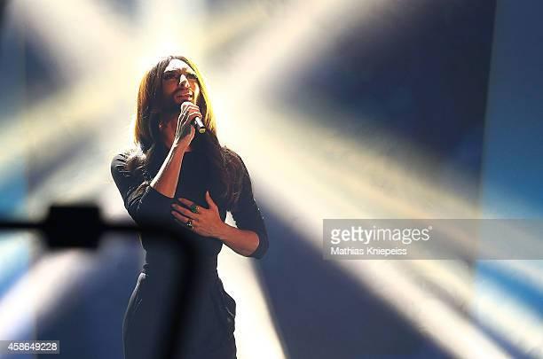 Conchita Wurst attend Wetten, dass..? from Graz on November 08, 2014 in Graz, Austria.