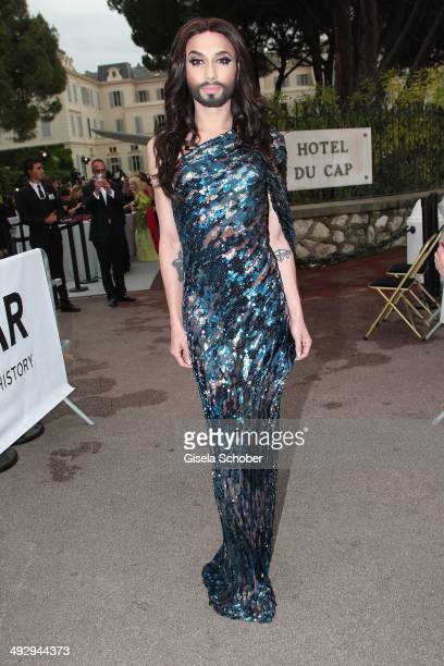 Conchita Wurst attends amfAR's 21st Cinema Against AIDS Gala Presented By WORLDVIEW BOLD FILMS And BVLGARI at Hotel du CapEdenRoc on May 22 2014 in...