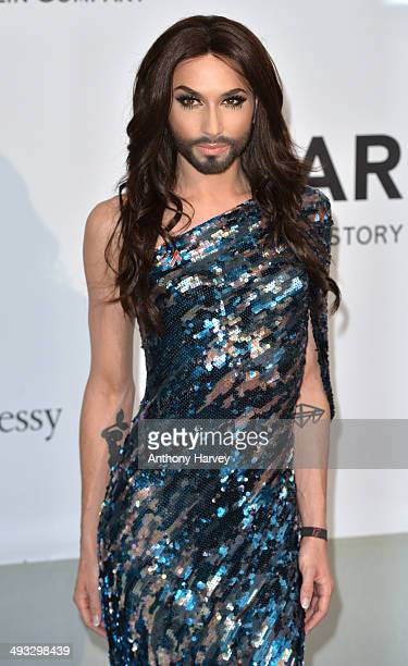 Conchita Wurst attends amfAR's 21st Cinema Against AIDS Gala Presented By WORLDVIEW BOLD FILMS And BVLGARI at the 67th Annual Cannes Film Festival on...