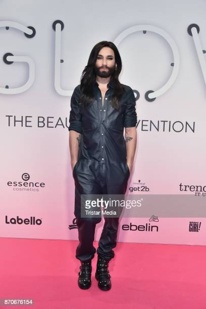 November 05: Conchita Wurst attends the GLOW - The Beauty Convention at Station on November 5, 2017 in Berlin, Germany.