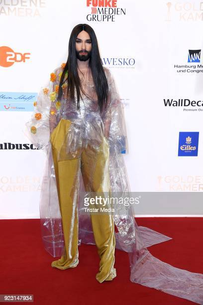 Conchita Wurst attends the Goldene Kamera on February 22, 2018 in Hamburg, Germany.