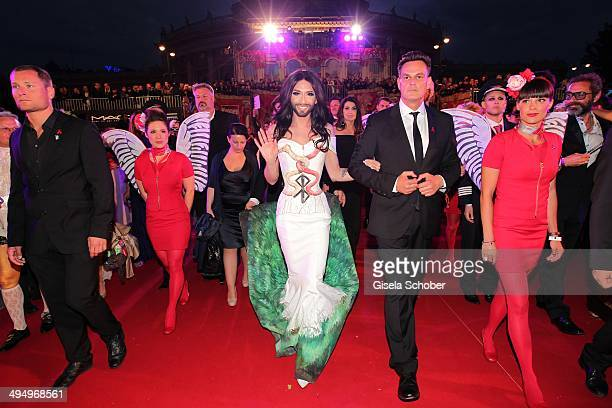 Conchita Wurst attends the Life Ball 2014 at City Hall on May 31 2014 in Vienna Austria