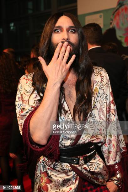 Conchita Wurst during the 13th Live Entertainment Award 2018 at Festhalle Frankfurt on April 9, 2018 in Frankfurt am Main, Germany.