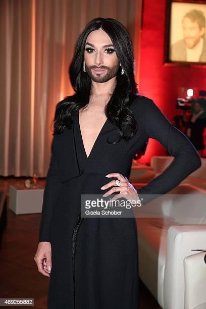 Conchita Wurst during the German premiere for Amazon's original drama series 'Transparent' at Kuenstlerhaus am Lenbachplatz on April 10, 2015 in...