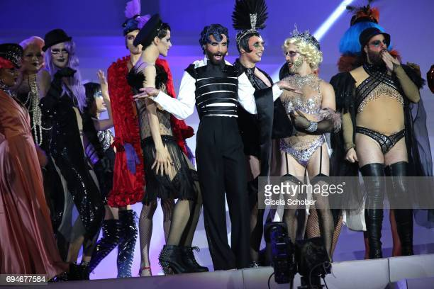 Conchita Wurst during the Life Ball 2017 show at City Hall on June 10 2017 in Vienna Austria