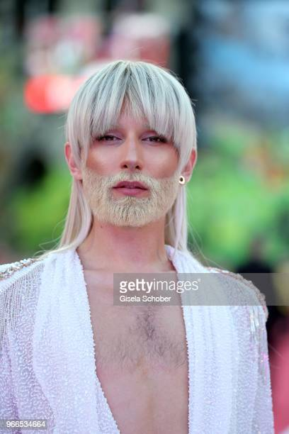 Conchita Wurst during the Life Ball 2018 at City Hall on June 2 2018 in Vienna Austria The Life Ball an annual charity event raising funds for HIV...