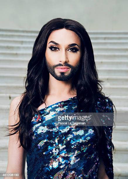 Conchita Wurst is photographed at AmfAR's 21st Cinema Against AIDS Gala on May 22 2014 in Cap d'Antibes France