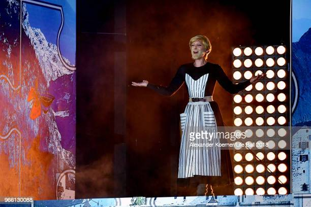 Conchita Wurst performs on stage during the Life Ball 2018 show at City Hall on June 2, 2018 in Vienna, Austria. The Life Ball, an annual charity...