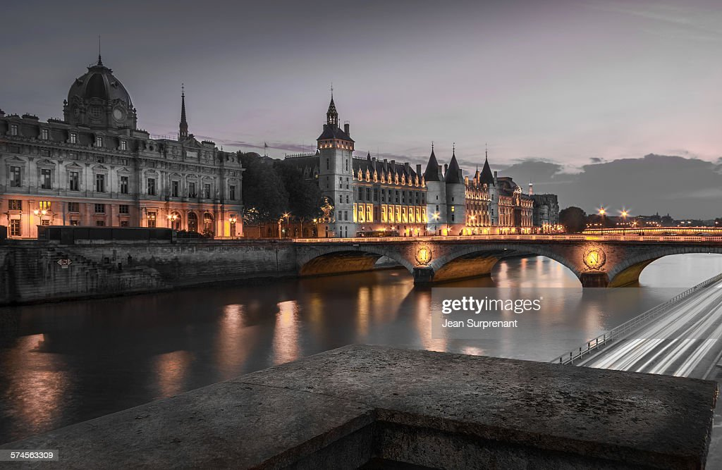 Conciergerie at night : Stock Photo