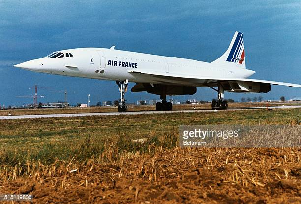 Concorde airliner of Air France on the ground