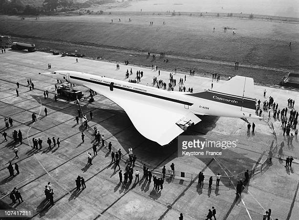 Concorde Being Rolling Out Of The Hangar At Filton Factory At Bristol In United Kingdom