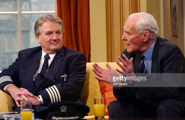 Concorde captain Mike Bannister and politician Tony Benn appearing on Breakfast with Frost