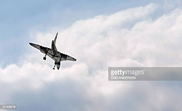 A Concorde flies over the Wimbledon Tennis Championships for the last time 06 July 2003 in Wimbledon south London The supersonic jet liner which has...