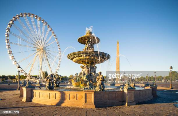 concorde place in paris in day ( france ) - place de la concorde stock pictures, royalty-free photos & images