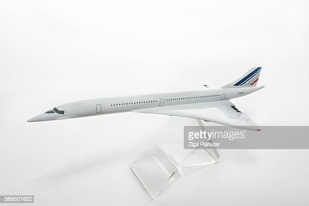 Concorde plane model on white