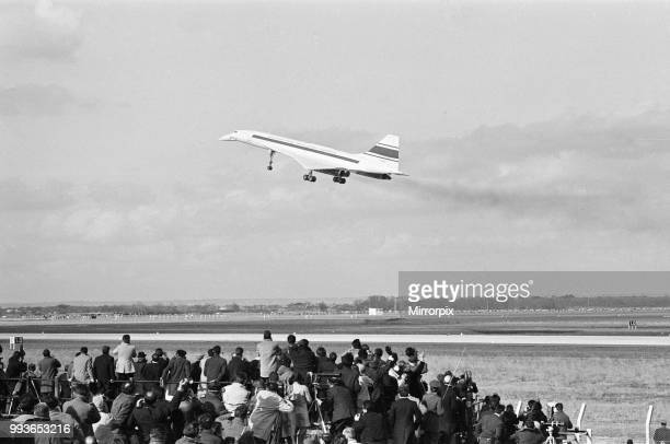 Concorde prototype 001 flies for the first time, at Toulouse Airport, France, Sunday 2nd March 1969. Maiden flight with test pilot Andre Turcat at...