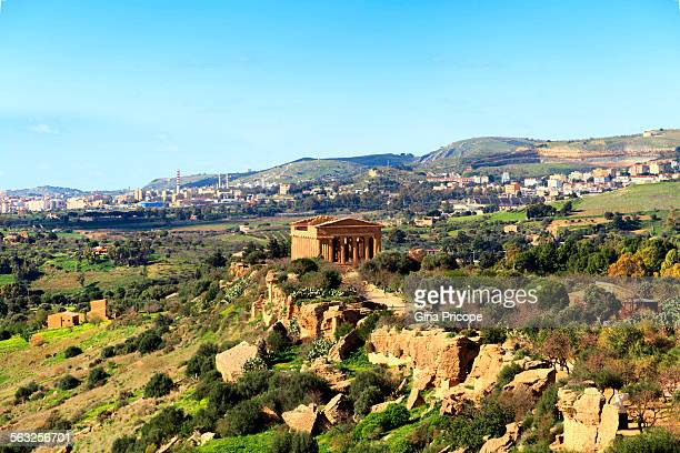 Concordia Temple view in Sicily Italy