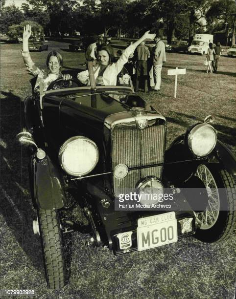 Concours D'Elegance -- M.G. Cars 150/ from 1930 models to the present day proudly displayed themselves in the annual MG Car Club's Concours...