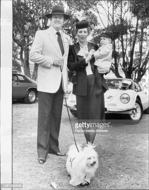 Concourse D'Elegance at Showground.Ken and Meg Sparkes with James McArthur and dog Chenel and Dine 1973 Ferrari Spider.It was a day for the owners of...