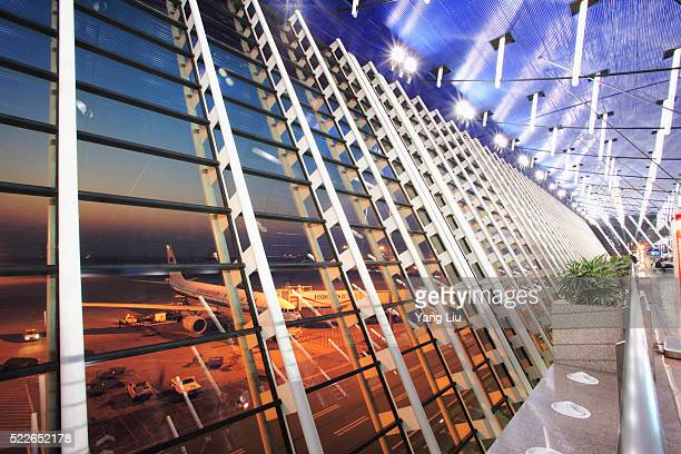 Concourse Windows at Pudong International Airport