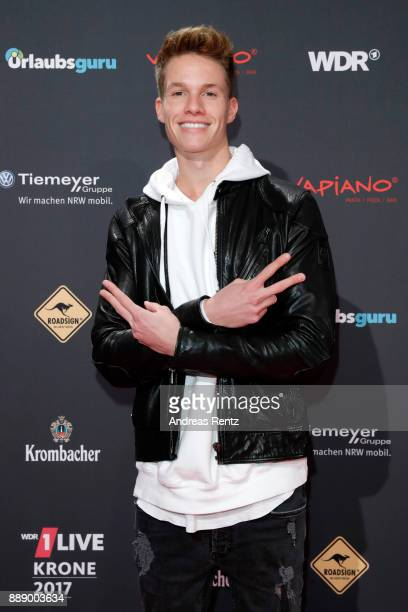 ConCrafter attends the 1Live Krone radio award at Jahrhunderthalle on December 07 2017 in Bochum Germany