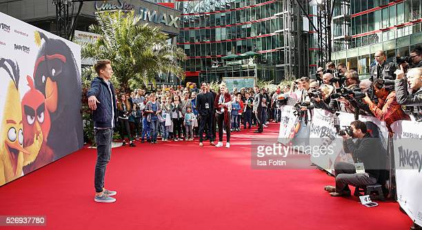 ConCrafter attends the Berlin premiere of the film 'Angry Birds Der Film' at CineStar on May 1 2016 in Berlin Germany