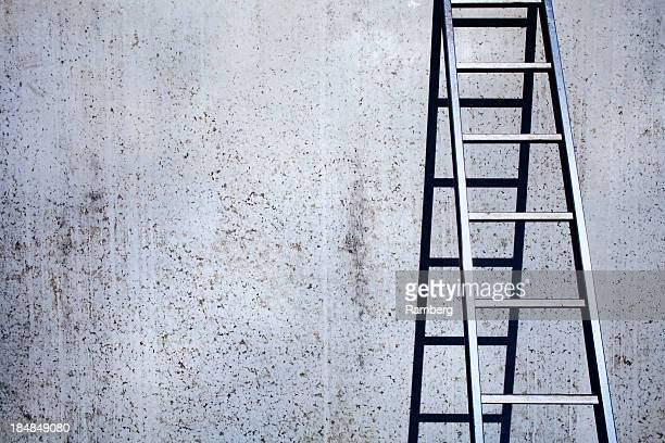 Concrete and ladder background