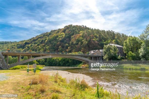 Concrete bridge over river