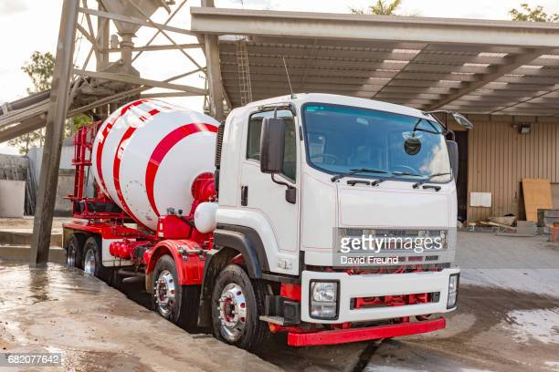 Concrete Cement Truck Being Loaded