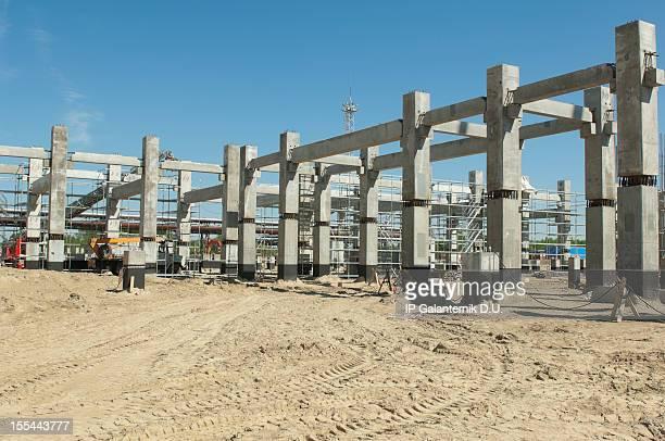 local de construção de concreto - estrutura construída - fotografias e filmes do acervo