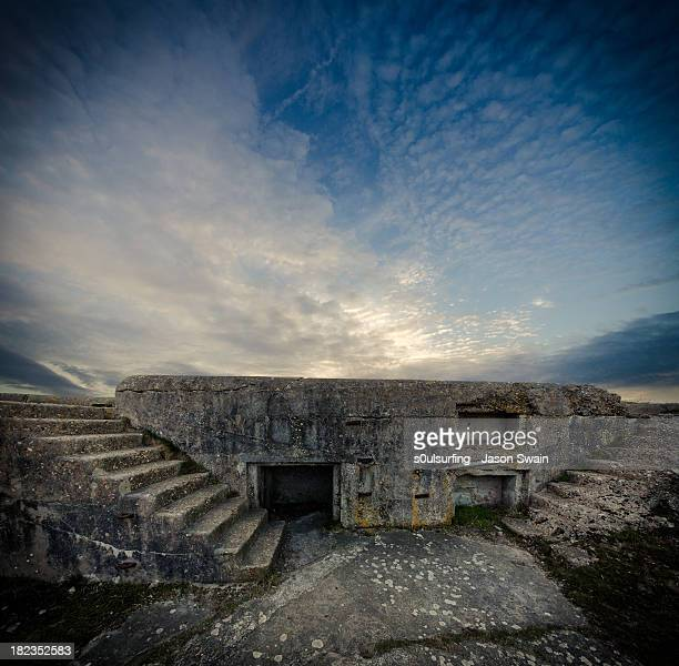 concrete defence - alum bay stock pictures, royalty-free photos & images