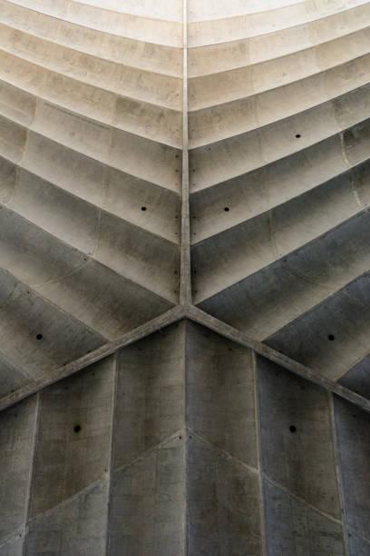 Concrete fishbone or leaf design background.