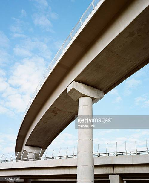 concrete flyover - column stock pictures, royalty-free photos & images