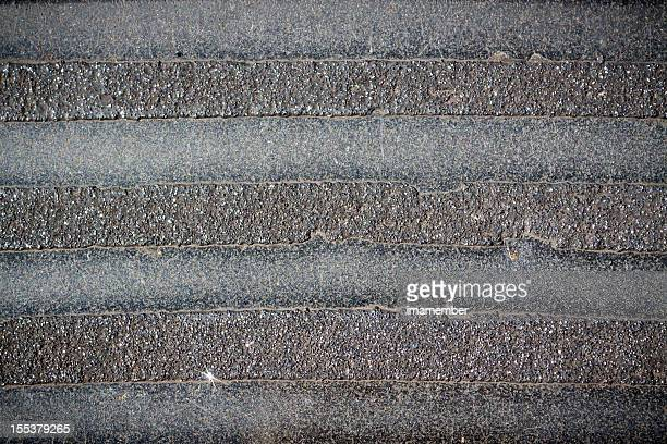 Concrete footpath with stripes, copy space