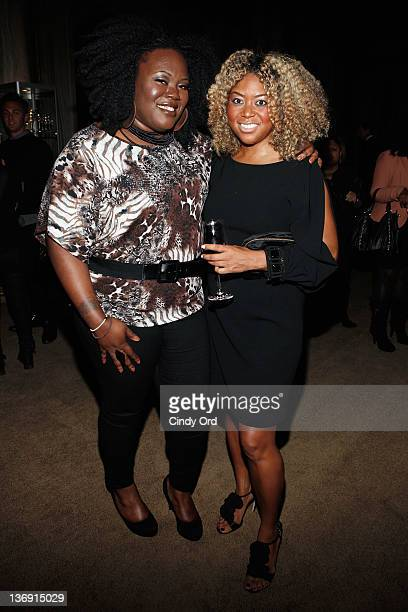 Concrete Loop's Angel Laws and coowner of Miss Jessie's Titi Branch attends the Target salute to Miko Branch and Titi Branch to celebrate being named...