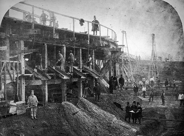 Concrete mills at the Northern Outfall Sewer in London,...