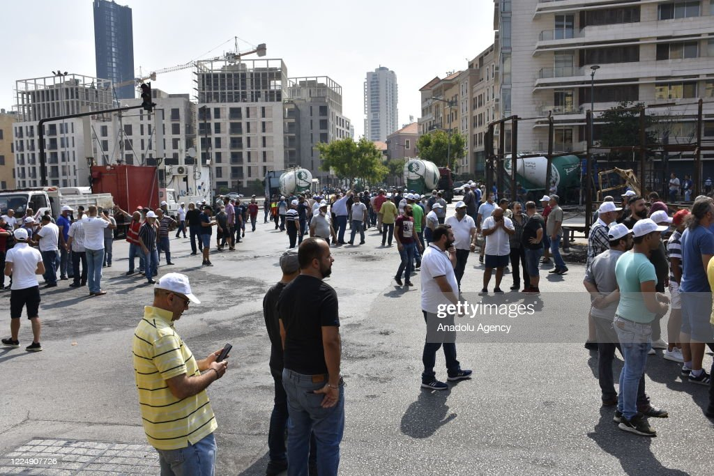 Unemployment and power cuts protest in Lebanon : News Photo