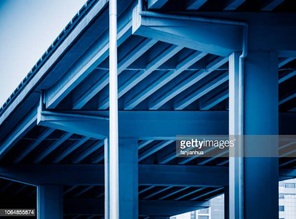 concrete pillars supporting - stability stock pictures, royalty-free photos & images