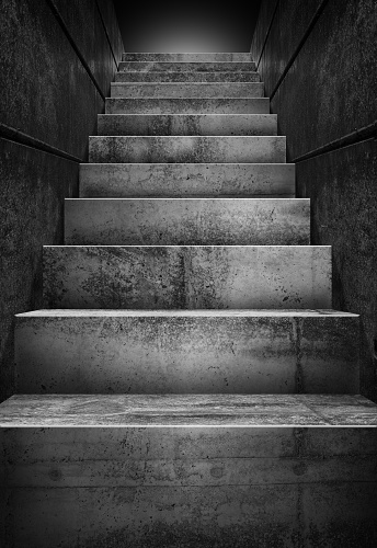 Concrete stairs - gettyimageskorea