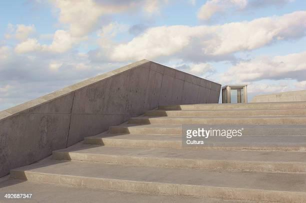 Concrete steps, Copenhagen, Denmark