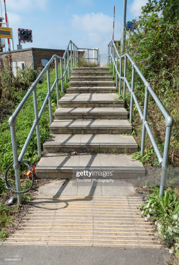 Concrete Steps Going up an Incline : Stock Photo