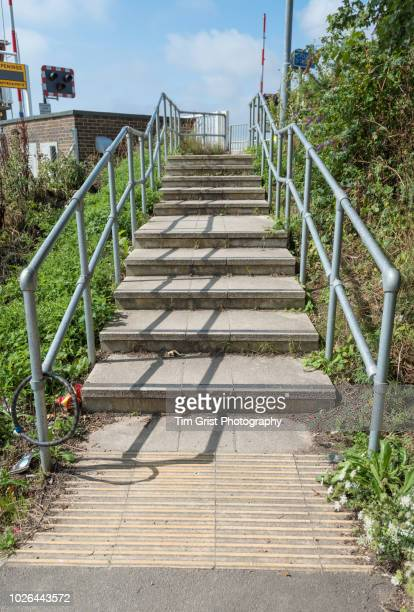 Concrete Steps Going up an Incline
