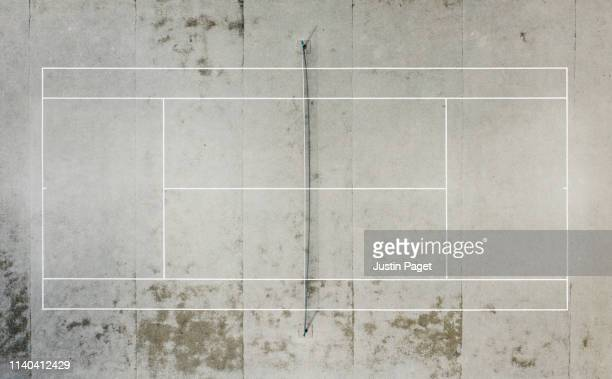 concrete tennis court - court stock pictures, royalty-free photos & images