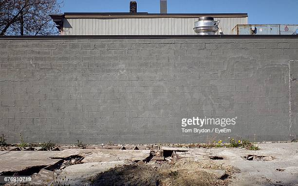Concrete Wall At Industry