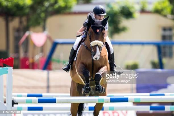 Concurso de Saltos Internacional de Santander. Rider Paloma Jimenez Carmona Gonzalez with horse Betty Boop de Cluis during the match between CSI2...